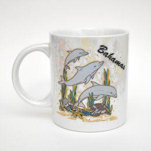 Vintage Colorful Iridescent Dolphin Bahamas Mug